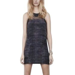 ALLSAINTS Black Silk Snake Dress | Mini Dress SZ 6